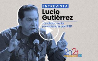 Entrevista a Lucio Gutiérrez, candidato presidencial por el Partido Sociedad Patriótica. Ilustración de Gabriela Valarezo para GK.