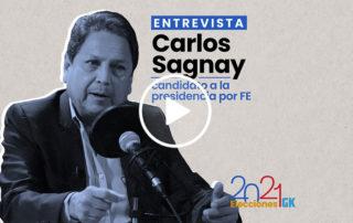 En esta entrevista a Carlos Sagnay, el candidato presidencial por FE habla de su relación con los Bucaram, su propuesta de gobierno y más. Ilustración de Gabriela Valarezo para GK.