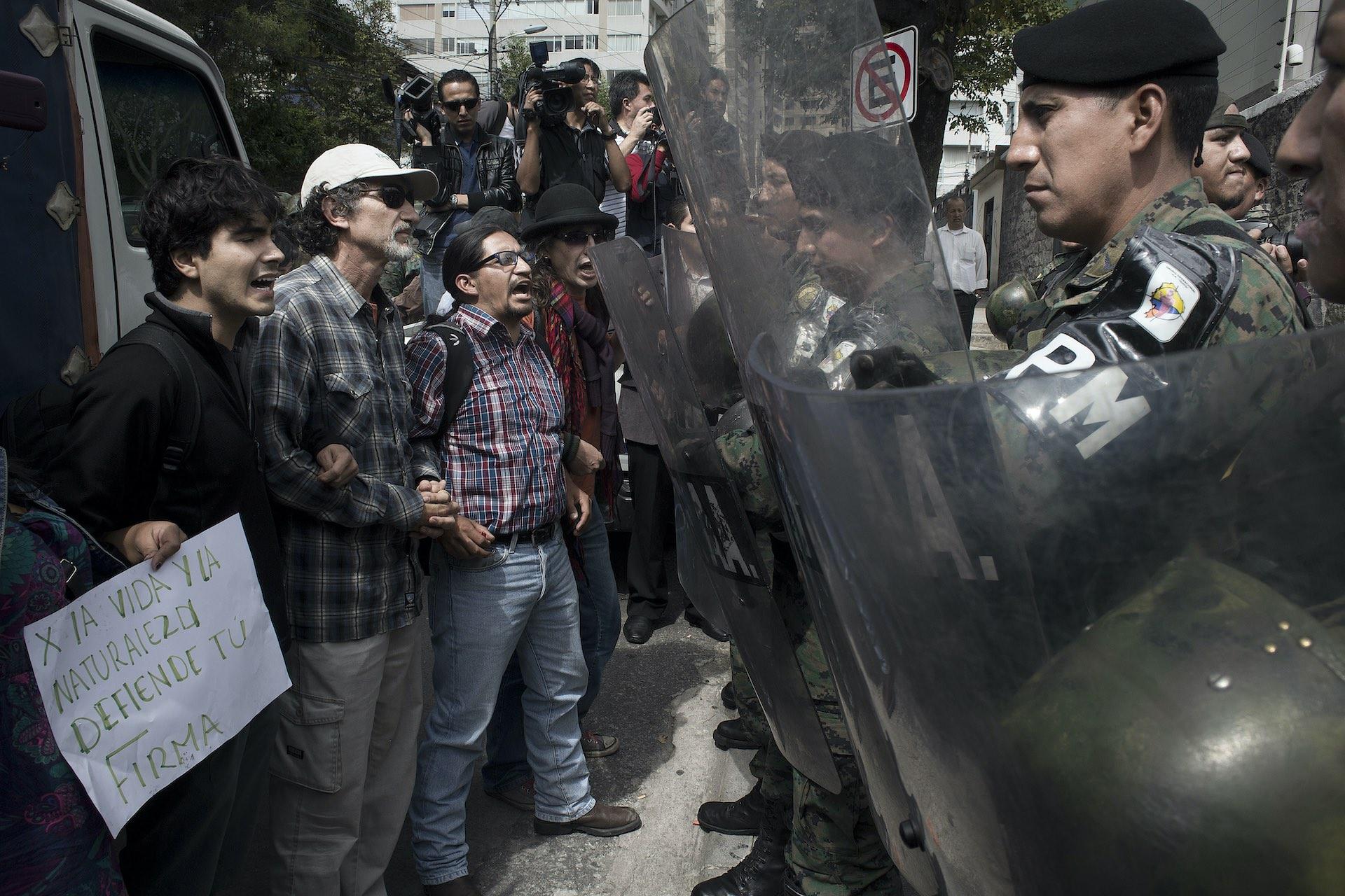 protesta por consulta popular Yasuní