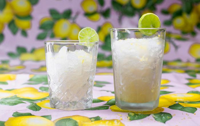receta granita de limón