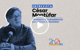 El candidato presidencial por la Alianza Honestidad, César Montúfar, habla sobre su plan de gobierno, su trayectoria política y más. Ilustración de Paula De la Cruz para GK.