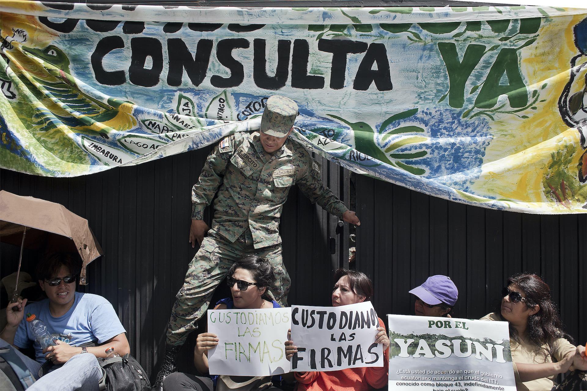 anularon firmas a los Yasunidos