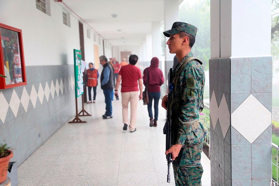 presupuesto de las Fuerzas Armadas para elecciones