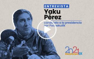 En esta entrevista, Yaku Pérez, candidato presidencial por Pachakuti habla sobre sus propuestas y su recorrido político. Imagen de Paula De la Cruz para GK.