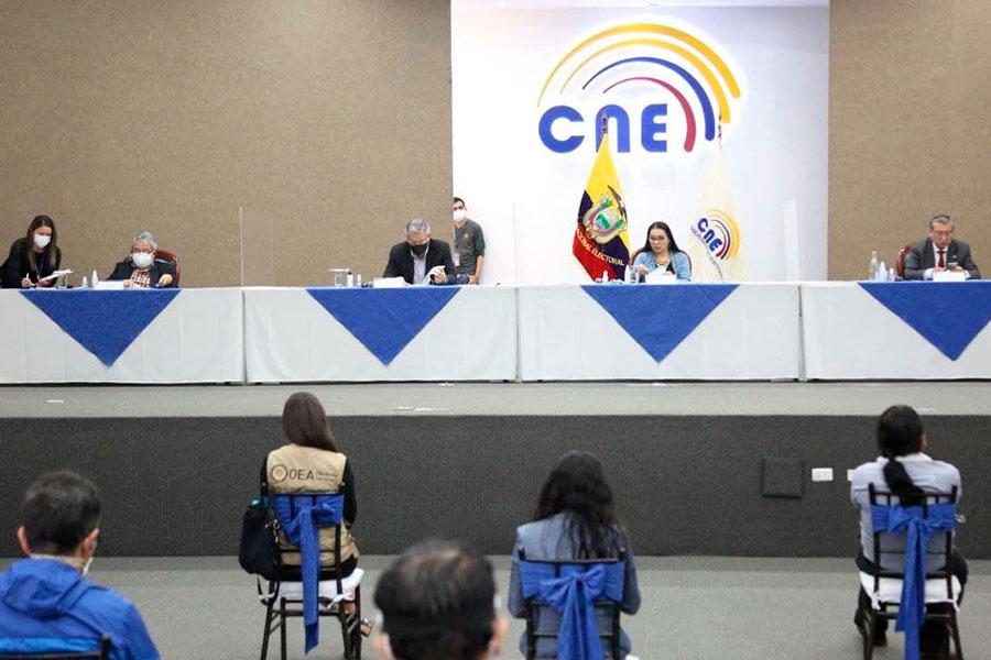 CNE aprobó corregir 18 actas
