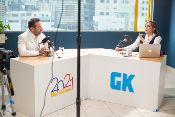 Gerson Almeida, candidato presidencial por Ecuatoriano Unido, es también pastor evangélico. Fotografía de Eduardo Naranjo para GK.