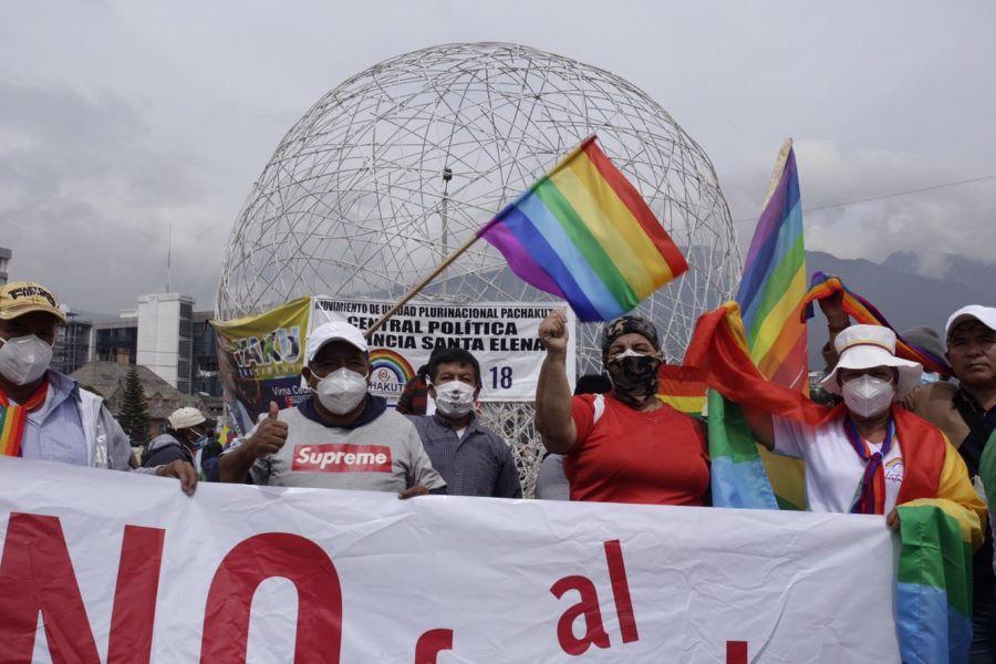 movilización indígena llegó