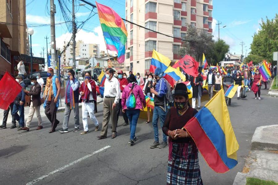 movilizaciones hacia Quito