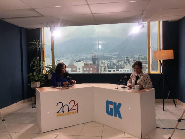 Ximena Peña, candidata presidencial por Alianza País es la única mujer en la contienda electoral. Fotografía de Ana Cristina Rea para GK.