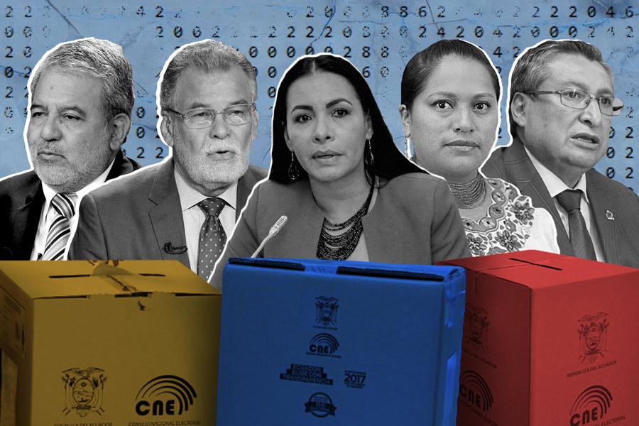 ¿Ha sido transparente el CNE? Ilustración de Paula De la Cruz para GK.