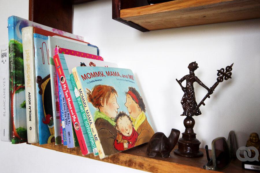 Libros sobre dos madres.