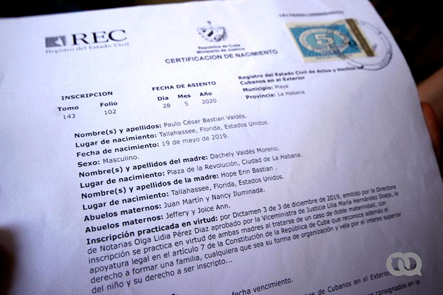 Certificado de nacimiento Paulo