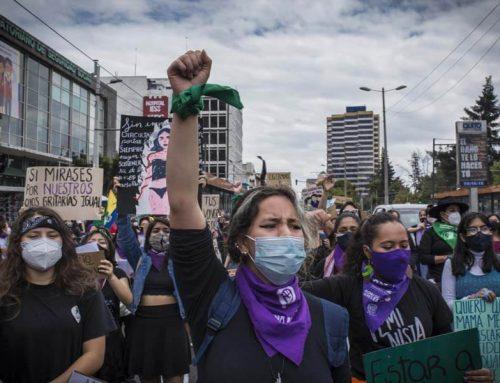 Una marcha feminista en pandemia